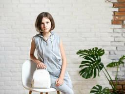 Трикотажный спортивный жилет для девочки подростка серого цвета 38