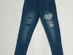 Трикотажные подростковые лосины под джинс для девочки 150