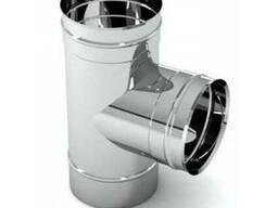 Трійник димохідний нержавійка 87° сталь: 0,5 мм