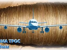 Трос авиационный. стальной, 1.8мм. ГОСТ 2172.
