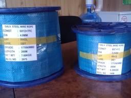 Нержавеющий трос Ф 2,0 мм сечение 7х19
