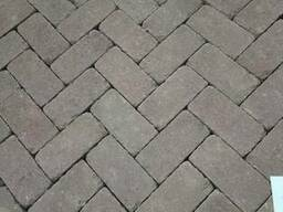 Тротуарна плитка кірпічик ТМ Золотий Мандарин - фото 1