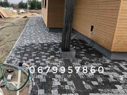 Тротуарна плитка темно-сіра