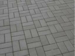 Тротуарная плитка кирпич 200х100 высота 40мм серая