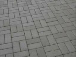 """Тротуарная плитка """"Кирпич"""" серая"""