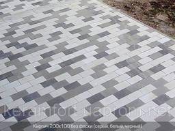 Тротуарная плитка Кирпич стандартный без фаски 200*100*60 Зо
