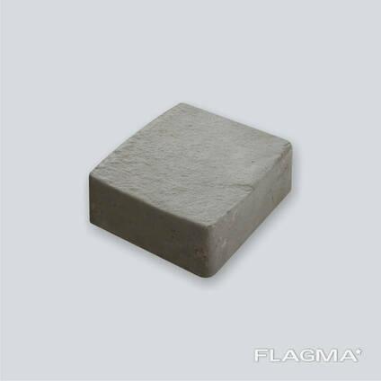 Плитка тротуарная серая кирпичик Львовская 5 см