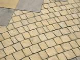 Тротуарная плитка брусчатка желтая Терасная 5 см - фото 1