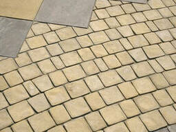 Тротуарная плитка брусчатка желтая Терасная 5 см