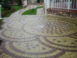 Тротуарная плитка брусчатка коричневая Ретро 5 см - фото 4