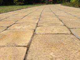 Вибролитая тротуарная плитка 3 см желтого цвета
