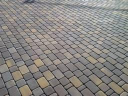 Тротуарная плитка Брусчатка с фаскою 200х100х40 купить