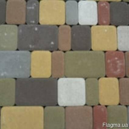 """Тротуарная плитка """"Старый город"""" высота 25 мм. цвет желтый"""