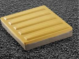 Тротуарная тактильная плитка (бетонная) 300х300х60