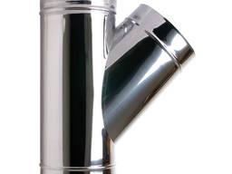 Тройник (угол 45º) из кислотостойкой нержавеющей стали