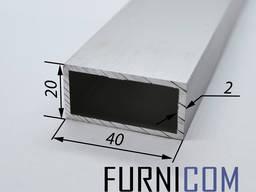 Труба алюминиевая прямоугольная от 20*10 до 100*20