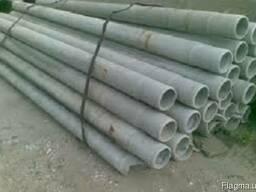 Тонкостінна бетонна труба-оболонка футерована, МС 240. 20. 1 П (з мет. обичайкою)