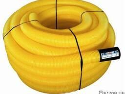 Труба дренажная гофрированная D=200мм с перфорацией.
