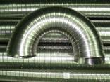 Труба, гофрированная эластичная из нержавеющей стали - фото 1