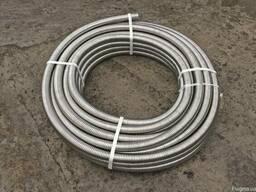 Труба гофрированная из нержавеющей стали 15 мм. отожженная