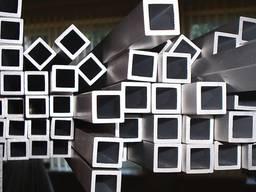 Труба алюминиевая квадратная 10х10х0. 9мм АД31Т5 AS(серебро)