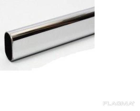 Труба плоскоовальная, нержавеющая 40х20х1,2 мм, купить, цена