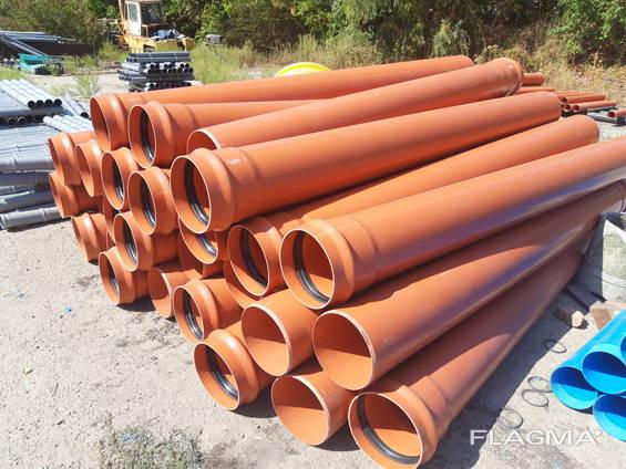 Труба ПВХ для канализации 110, 160, 200, 250, 315, 400, 500