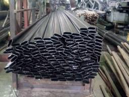 Труба сталева профільна плоско-овальна 50 х 18 х 1,2 мм, ГОСТ 8644