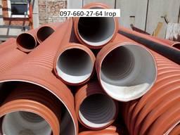 Труби каналізаційні двошарові гофровані д 110, 160, 200, 300. .