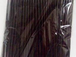 Трубочка для напитков с гофрой d4. 8 21см черная (200 шт)