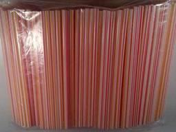 Трубочки широкие для напитков d6, 8 21см Фрешка полосатая (500 шт)