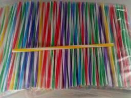Трубочки широкие для напитков d8-25см Винтовая микс (500 шт)