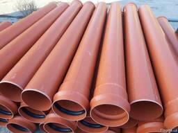 Трубы канализационные гофрированные диаметром 400 мм