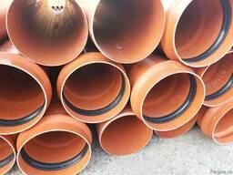 Трубы для канализации ПВХ гофрированные 300, 315 мм