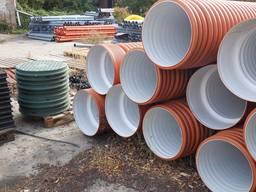 Трубы двухслойные гофрированные для ливневой канализации