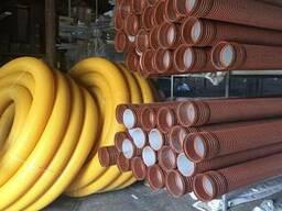 Трубы гофрированные для дренажа и канализации Пайплайф. Киев