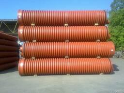 Трубы гофрированные двухслойные для канализации