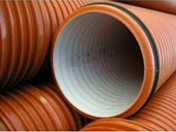 Трубы гофрированные InCor для канализации 250х6000 SN8