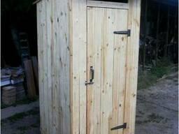 Туалет дачный из сухой обрезной доски - Киев, Борисполь