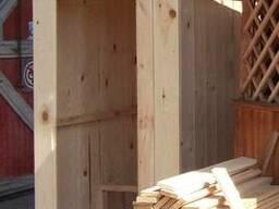 Туалет для дачи, душевая кабина деревянная