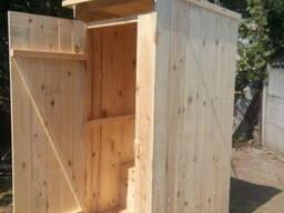 Туалет для дачи, душевая кабина деревянная - фото 3