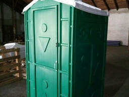 Туалет передвижной автономный зеленый - фото 2