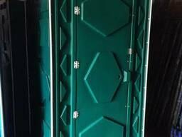 Туалетная передвижная кабинка, биотуалет зеленый.