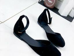Туфли балетки женские Riko черные 1402
