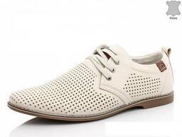 Туфли кожаные мужские летние на шнурке (Kangfu)