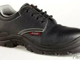 Туфли кожаные на ПУ подошве с метподноском