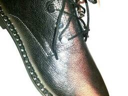 Туфли кожаные женские , шнурок