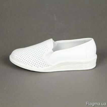 Туфли рабочие белые для пищевой, медицинской пром-сти