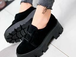 Туфли женские Caspar черный 1945 замша