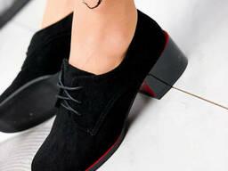 Туфли женские Eelis черные 1878 замша